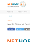Nethope - Mobile Financial Services Market Viability Tool - overview