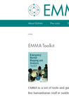 EMMA (2010) Emergency Market Mapping and Analysis Toolkit  - overview