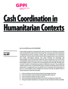 Steets, J. et al. (2017) Policy Paper on Cash Coordination in Humanitarian Contexts - overview