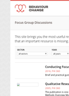 Resources on Conducting Focus Group Discussions  - overview