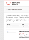 Resources on Training and Counselling - overview