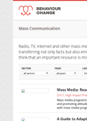 Resources on Mass Communication - overview