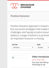Resources on Positive Deviance - overview