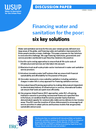 WSUP, IRC (2012) Discussion paper: Financing water & sanitation for the poor - overview