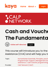 CaLP (2018) Course: Cash Transfer Programming - The Fundamentals - overview
