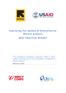 IRC, USAID (2018) Improving the Uptake of Humanitarian Market Analysis: BEST PRACTICE REPORT - overview
