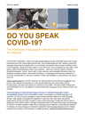 TWB (2020) Do You Speak COVID-19? - overview