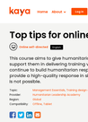Kaya (2020) Top Tips for Online Learning - overview
