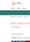 Poverty Action Lab (2020) Best practices for conducting phone surveys - overview