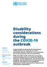 WHO (2020) Disability considerations during the COVID-19 outbreak - overview