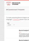PIN (2018) BA Questionnaire Templates - overview